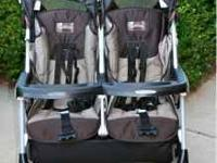 Peg Perego Aria 50/50 Double Stroller in Chocolate &