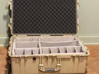 Pelican Case 1650 with Padded Divider, Foam for Lid,