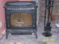 Enviro Windsor pellet stove. Full glass front, holds