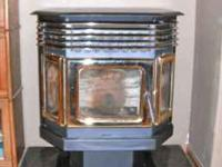 Used wood pellet stove for sale. It is in perfect
