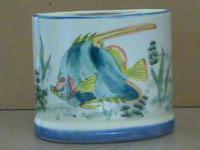 Pencil Cup - Ceramic, Sealife Design (Shells, Fish...)