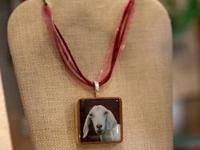 Handmade Goat Pendant (necklace included with