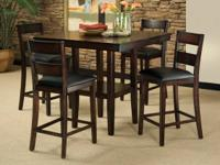 Today's price: $398.00   Description: Table & 4 Chairs