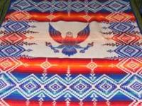 "Pendleton commemorative blanket. Size 54""x71"". Will not"