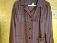 This Pendleton women's leather jacket with fringe is