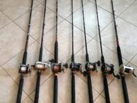 3 6ft Deluxe Star Rods 1 5.9 ft Aerial Star Rod, 1 8ft