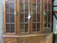 TREASURES ID #16950  Beautiful solid wood hutch with