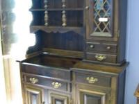Excellent Quality In This Beautiful Maple China Hutch