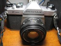 I have a used Pentax K-1000 SLR 35mm film camera. I had