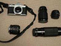 Tamrac case, manual shutter release attachment, vivitar