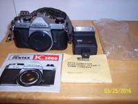 Pentax Solid Body SLR with 50mmm Lens and original