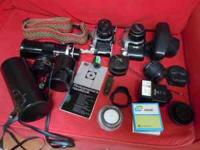 I've got two film SLRs for sale, both from a smoke-free