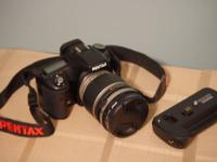 A mint condition Pentax K200D 10.2 mp digital SLR