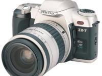 Pentax SLR ZX-7 35mm Film Camera w/28-80mm lens This