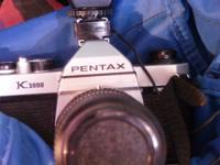 For sale, a gently used Pentax K1000 camera, by the