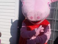 Adult Peppa Pig mascot costume. In very excellent