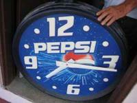 Pepsi clock in good shape. $25.00 OBO - contact Lowell