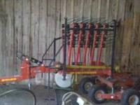 For sale is a Pequea Rotary Rake HR1140 that was