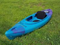 Used teal and purple kayak in good condition. It has