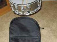 percussion plus snare drum..stand..sticks..and zippered