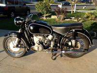 Here we have a nice Original Paint 1967 BMW R60/2. This