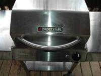This is an electric Stainless Steel Grill. it was used