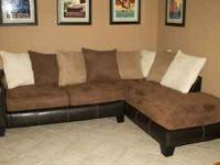 PERFECT Ultra Comfortable Microfiber Sectional Sofa As