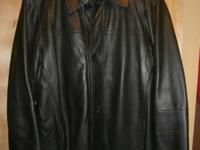 Perry Ellis - Smooth Lambskin Open Base Jacket
