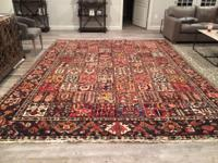 Beautiful Hand Knotted Rug Persian Bakhtiari Vegetable