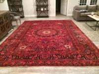 Beautiful Hand Knotted Rug Persian Birjand Rug 100%
