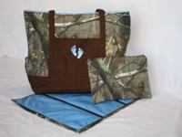 We make personalized baby diaper bag sets! We have