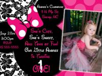 PERSONALIZED invitations for any event!  Great Prices!