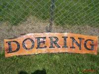 Personalized logs look great in the yard or a flower