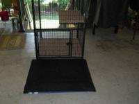 I have a great pet cage. It has a door that is lockable