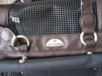 Samsonite Leather Soft Sided Pet Carrier Bag. Almost