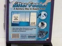 Ware Sifter - Pet Feeder with Lid, 5-Inch. -- All metal
