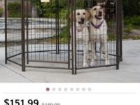 Have 3 pet gazebos avail , all come with dog house .
