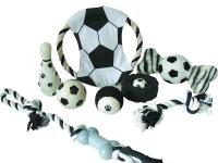 "Our PET LIFE Black and White ""Soccer"" themed Pet Toy"
