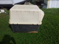 this dog house has been in our pin for bout 7or 8