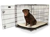 -Safe, secure, and affordable -Collapsible dog crates