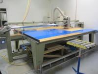 This is a Peterson Panel Saw with custom upgrades. See