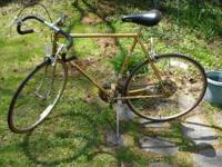 Peugeot Road Touring Bike in rare gold color. This is a