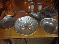 10 piece Pewter Serving dishes. Will sell all for $100