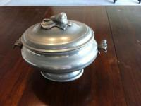Pewter (Peltro 95) Terrin $95. Beautiful antique petwer