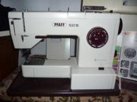 One owner Pfaff design 1222 SE, sturdy stitching