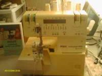 Pfaff 4860 serger with carrying case manual and video