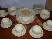 8 place settings, minus 3 coffee cups  These items and