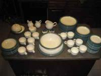 For sale is a set of Pfaltzgraff dishes Ocean Breeze