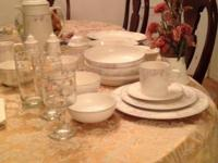 Stunning set of made in the USA Pfaltzgraff meals in