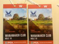 2 PGA Championship Wanamaker Club passes (good for